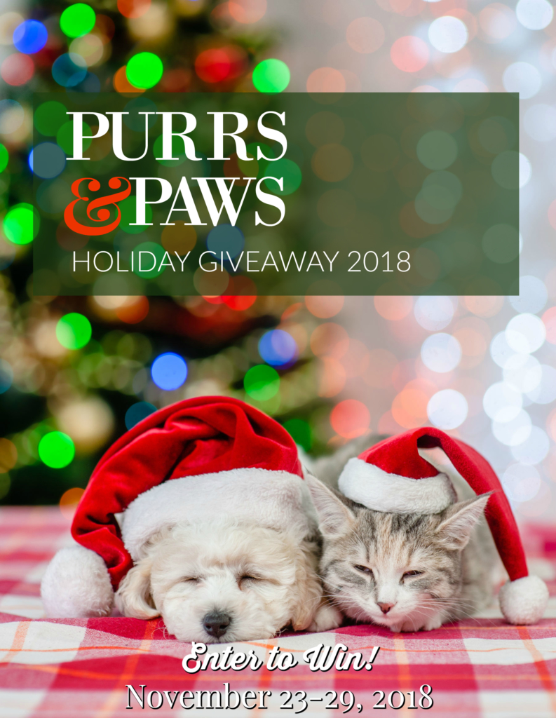 'Tis the Season for Prizes with the Purrs & Paws Holiday Giveaway!